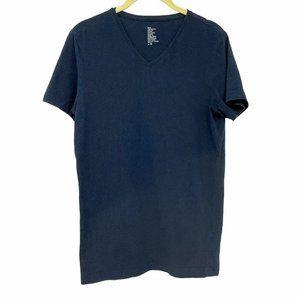 H&M Navy Blue V neck t shirt men's
